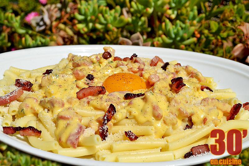 Macaronis façon carbonara