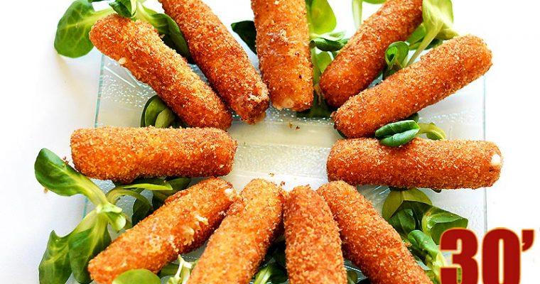 Sticks de mozzarella panés