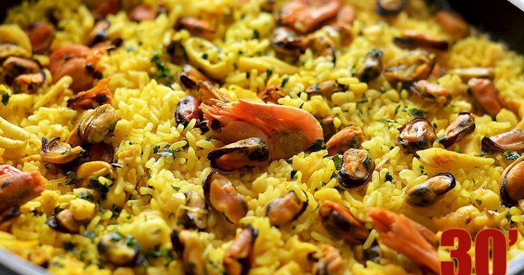 Riz safrané aux fruits de mer