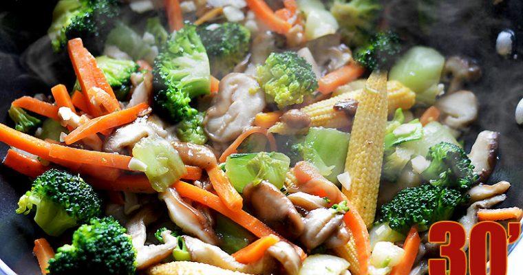 Wok de légumes à la sauce soja