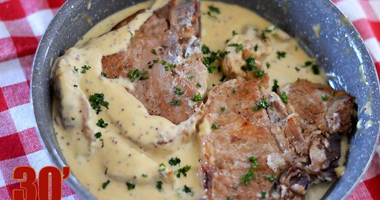 Côte de veau à la moutarde à l'ancienne