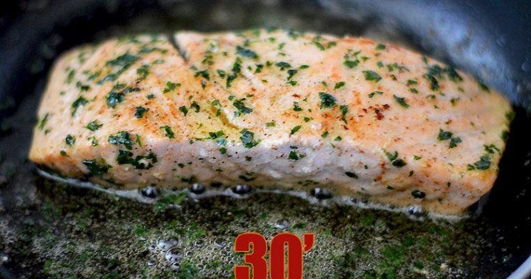 Pavé de saumon à la meunière