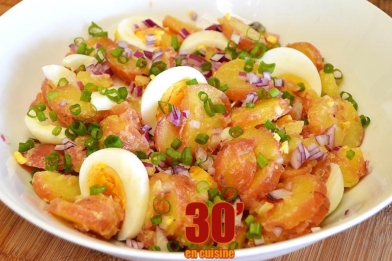 Salade de pommes de terre rouges