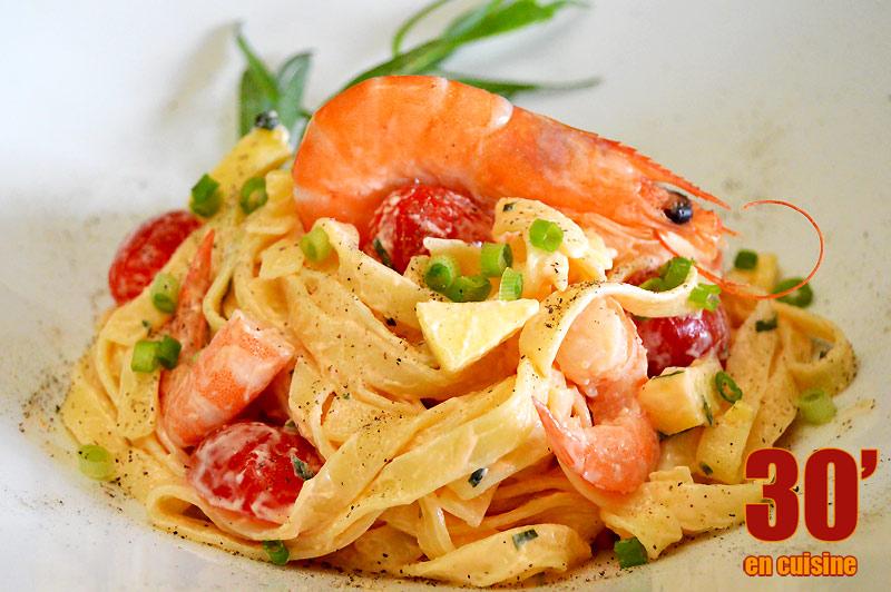 Salade de pâtes aux crevettes | 30 minutes en cuisine