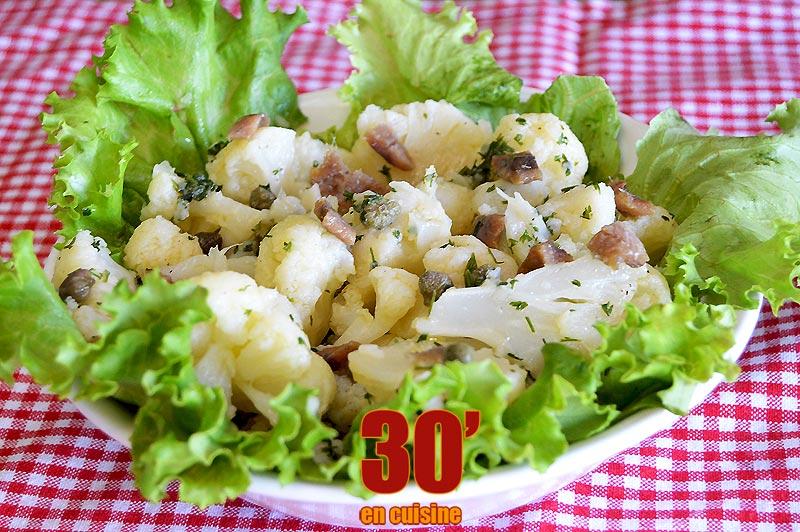 Salade de chou-fleur aux anchois